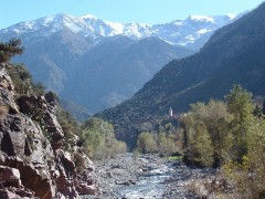 Ourika Valley Waterfalls near the Atlas Mountains (Photo Credit:Bryce Edwards)