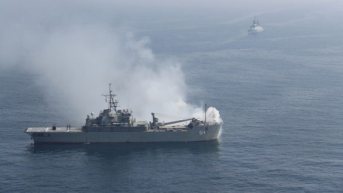 Iranian and American ships avoid NEAR MISSES in tense Persian Gulf encounter, says US Navy